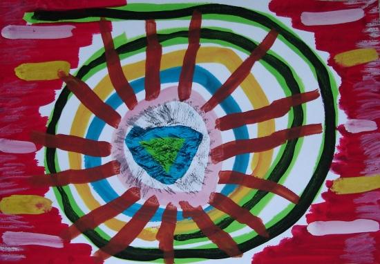 94级同学画的抽象画 福安美术家